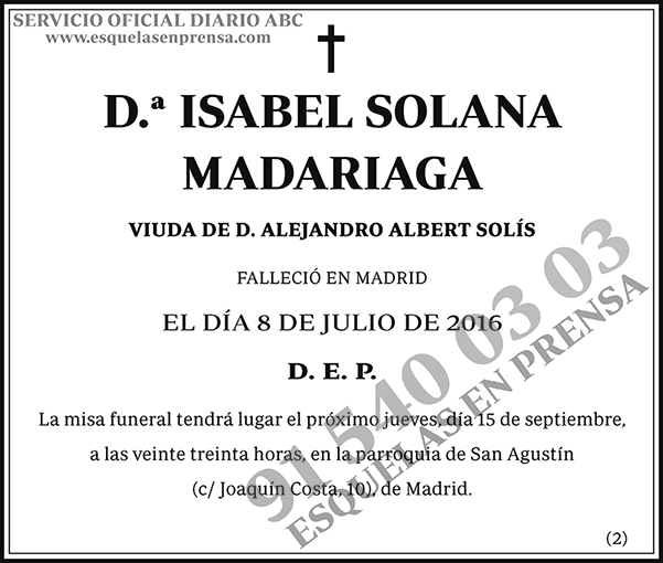 Isabel Solana Madariaga